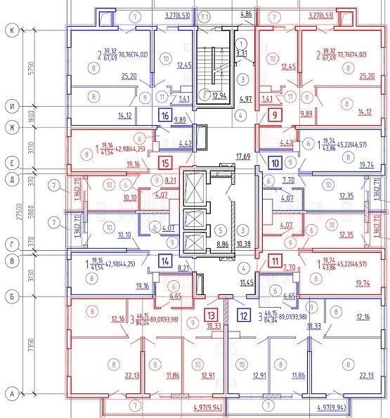 13 типовой этаж